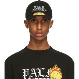 Palm Angels Black Smiley Edition Burning Cap PMLB003R21FAB0041018