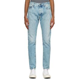Palm Angels Blue Back Logo Jeans PMYA012R21DEN0014001