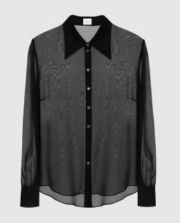 Черная блуза из шелка Magda Butrym 2300006475450