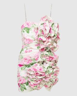 Белое платье из шелка с кристаллами Magda Butrym 2300006475566
