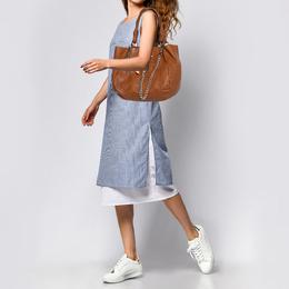 Gianfranco Ferre Brown Leather Shoulder Bag 367415
