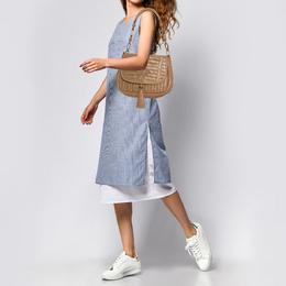 Anya Hindmarch Beige Woven Leather Shoulder Bag 367417