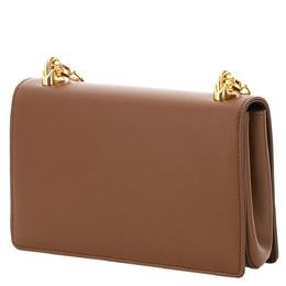 Dolce&Gabbana Brown Nappa Leather DG Girls Shoulder Bag 367536