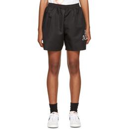 Palm Angels Black Hue Gothic Logo Shorts PMCB005R21FAB0021001