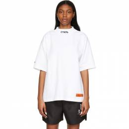 Heron Preston White Style Mock Neck T-Shirt HMAA021R21JER0010110