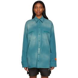 Heron Preston Blue Outdoor Jacket HMGA019R21FAB0015701