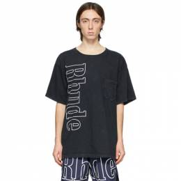 Rhude Black Logo Pocket T-Shirt RHFW20TT00000024