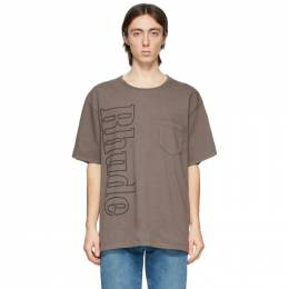 Rhude Grey Logo Pocket T-Shirt RHFW20TT00000024