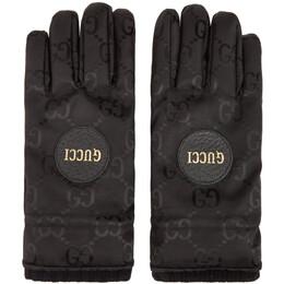 Gucci Black GG Monogram Gloves 652996 4HAEU