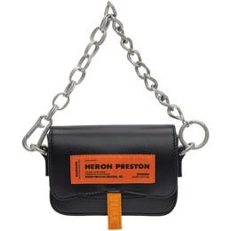 Heron Preston Black Mini Canal Bag HWNA014E20LEA0011000
