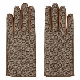 Gucci Brown Leather and G Gloves 475389 4SAAJ