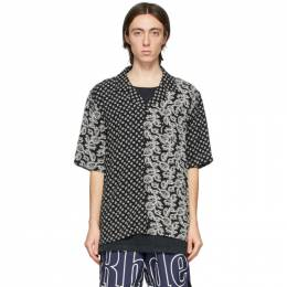 Rhude Black and White Bandana Panel Hawaiian Short Sleeve Shirt RHFW20LS00000006