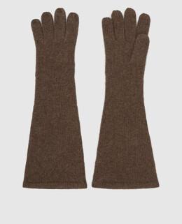 Коричневые перчатки из кашемира Toteme 2300006478918