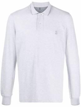 Brunello Cucinelli рубашка поло с вышитым логотипом M0T639769GCG817