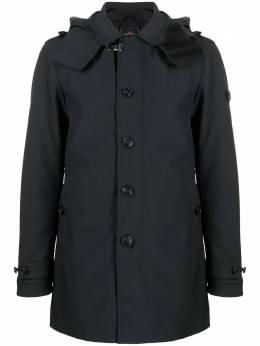 Peuterey однобортное пальто с капюшоном PEU370001191511