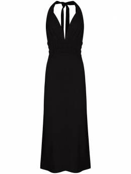 Materiel платье макси с вырезом халтер RE21AKN1119DRBK