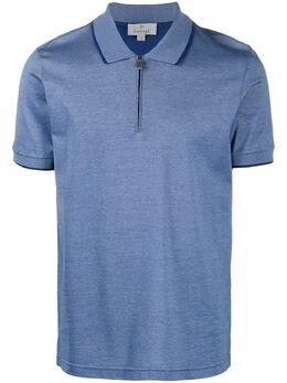 Canali рубашка поло с воротником на молнии T0641MJ00351