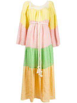 Lisa Marie Fernandez платье макси Peasant 2020SP129MCG