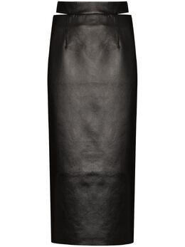 Materiel юбка миди из искусственной кожи RE21LVN1136SKBK