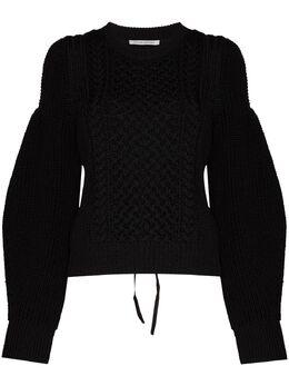 Cecilie Bahnsen свитер Fifi фактурной вязки с открытой спиной SC210066FIFIJUMPER