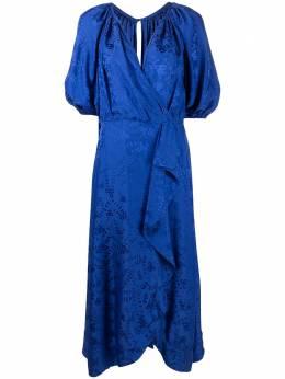Saloni платье миди с принтом 10281