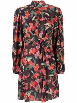 Saloni платье мини с цветочным принтом 10469