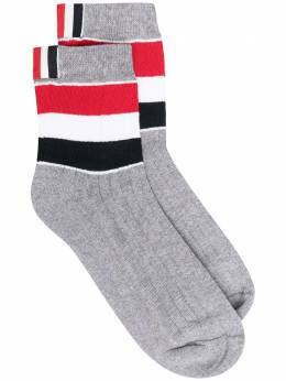 Thom Browne носки Athletic с полосками MAS105AY3013