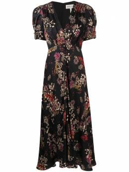 Saloni расклешенное платье с цветочным принтом 1764