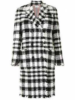 Thom Browne double-breasted check-pattern coat FOC294T06711