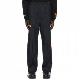 Heron Preston Black Logo Patch Track Trousers HMCA022R21FAB0011001