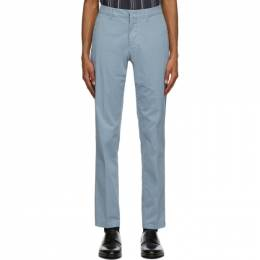 Dunhill Blue Cotton Twill Chino Trousers DU18FM009K3