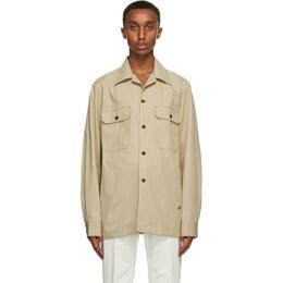 Dunhill Beige Cotton Twill Over Shirt DU21RGLG2BB