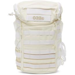 032C White adidas Originals Edition Canvas Logo Backpack GN1675
