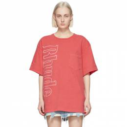 Rhude Red Logo Pocket T-Shirt RHFW20TT00000024