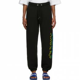 Palm Angels Black Hue Gothic Logo Lounge Pants PMCH011R21FLE0031084