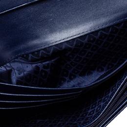 Longchamp Navy Leather Long Flap Wallet 368383