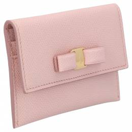 Salvatore Ferragamo Pink Leather Vara Wallet 366002