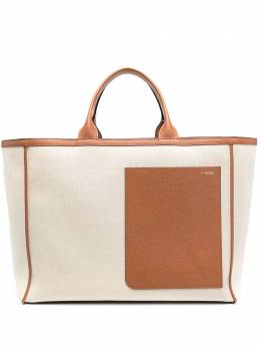 Valextra двухцветная сумка-тоут WBNL0026733T9999