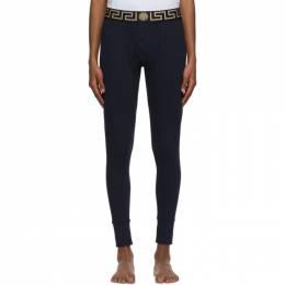 Versace Underwear Navy Greca Border Lounge Pants AU100023 A232741