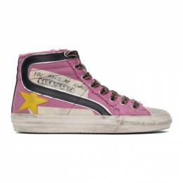 Golden Goose Pink Canvas Classic Slide Sneakers F00115.F001259.25553