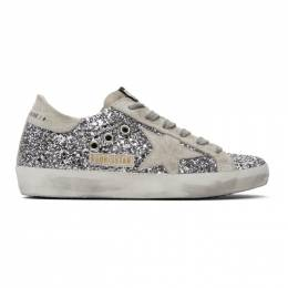 Golden Goose SSENSE Exclusive Silver Glitter Superstar Sneakers F00101.F000416.70136