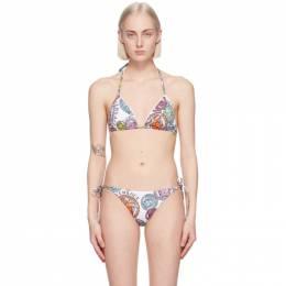 Versace Underwear White Medusa Amplified Print Bikini Top ABD40001_1F00540_5W00