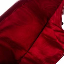 Miu Miu Red Patent Leather Trifold Wallet 368658