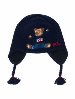 Ralph Lauren Kids трикотажная шапка с вышивкой 320703136