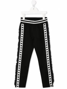 Moncler Enfant спортивные брюки с оборками F19548H70010V8113
