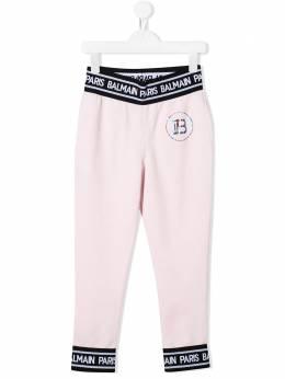 Balmain Kids спортивные брюки с логотипом 6M6500MX270