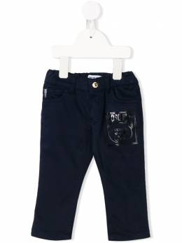 Moschino Kids брюки чинос Teddy Bear с логотипом MOP02MLRC01