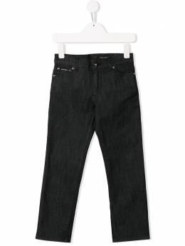 Dolce & Gabbana Kids джинсы с нашивкой-логотипом DG L42F05LD864