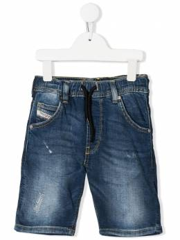 Diesel Kids джинсовые шорты с поясом на шнурке 00J3CIKXB3K