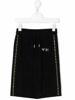 No.21 Kids декорированные брюки широкого кроя N214AGN0054